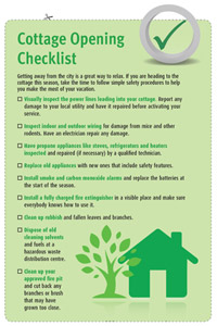 Cottage Checklist